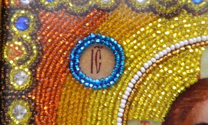 Свадебные иконы для венчания, иконы вышитые бисером фото, купить иконы для венчания из бисера в Киеве, венчальная...
