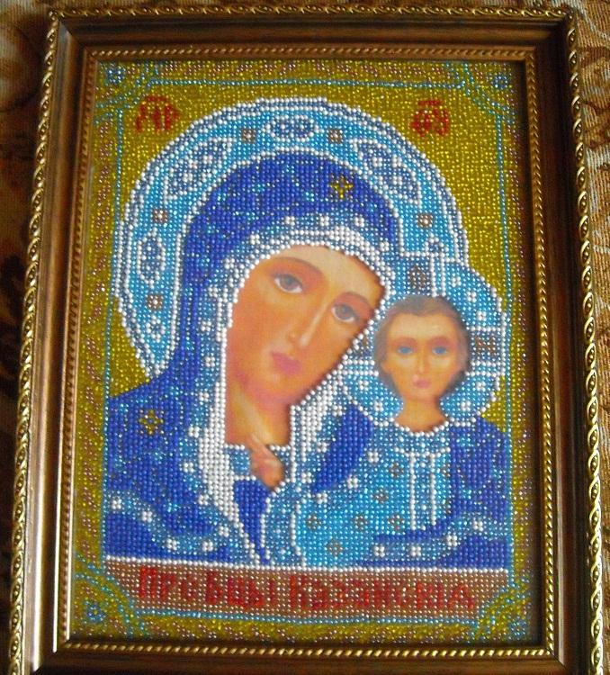 икона бисером казанская - Искусство бисероплетения.